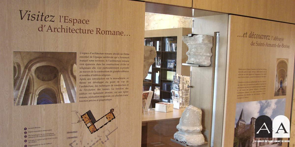 abbaye saint amant de boixe espace architecture romane