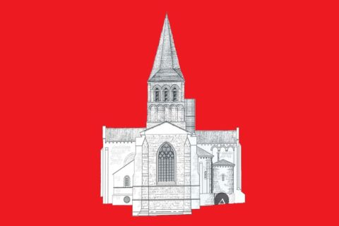 Au chevet de l'église abbatiale